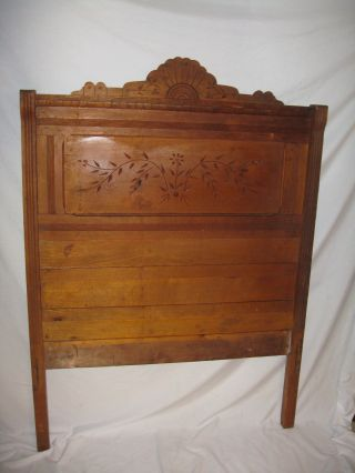 1870 Antique Eastlake Walnut Bed Flat Price Of $199) Free Pickup photo