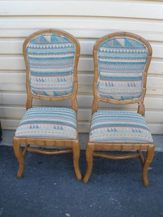 46448 Pair Modern Decorator Side Chairs Chair S photo