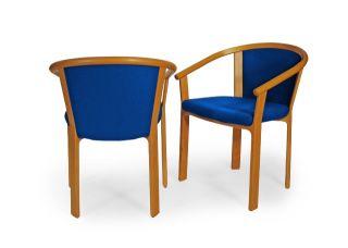 Pair Magnus Olesen Mid - Century Danish Chairs photo