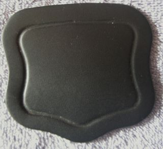 Exterior Lock Cover Or Lid Lift.  Black 7 - 8 Oz Single Ply Leather 4228 photo