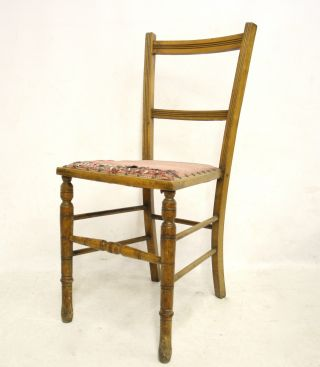 Antique Victorian Bedroom Chair Childs Small Oak photo