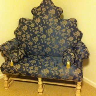 Stunning And Unique Antique French Loveseat photo