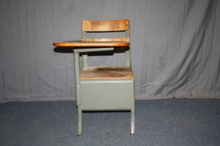 Vintage School Chairs With Desk Arm From Cooper Union Nyc photo