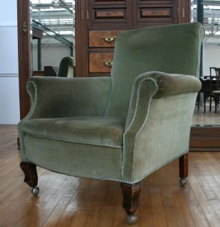 Antique Victorian Armchair Gentlemans Club House Parlour Arm Easy Chair No.  2 photo
