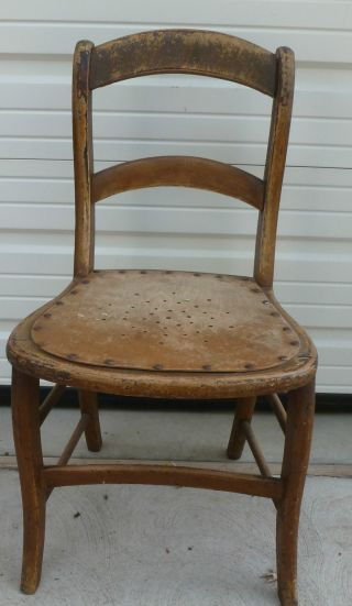 2 Antique Solid Wood Chair 32.  5
