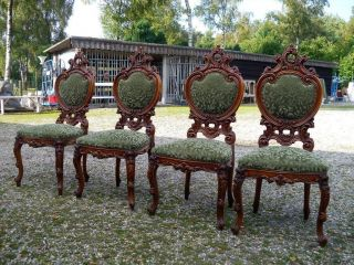 Italian Baroque Chairs Set Of 4 Side Chairs photo