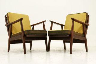 Gorgeous Pair Teak Lounge Chairs photo