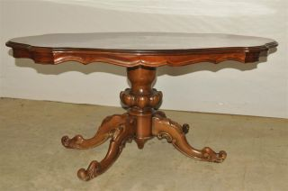 Italian Baroque Coffee Table Lovely Burl Wood Top photo
