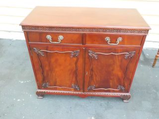 50962 Solid Mahogany Buffet Server Sideboard Quality Jansen ?? photo