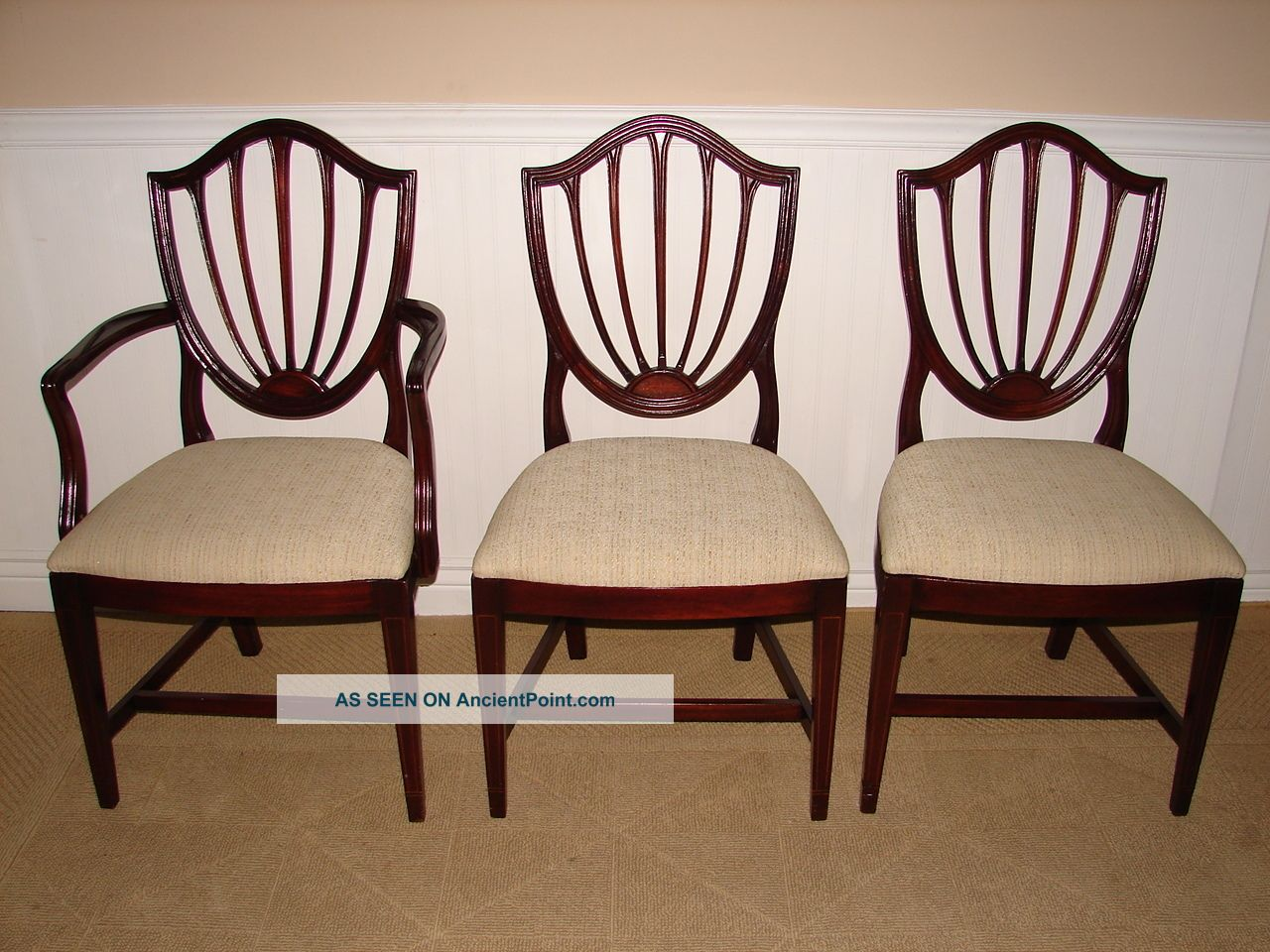 Ethan allen dining chairs Lookup BeforeBuying : ethanallenvintagemahoganyshieldbackdiningroomchairssixnewupholstery6lgw from www.lookup-beforebuying.com size 1280 x 960 jpeg 200kB