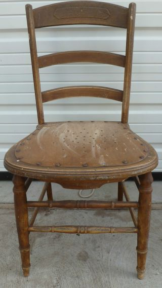 3 Antique Solid Wood Chair 34
