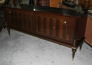 French Art Deco Mahogany Buffet/ Sideboard/ Credenza,  C1940 ' S photo