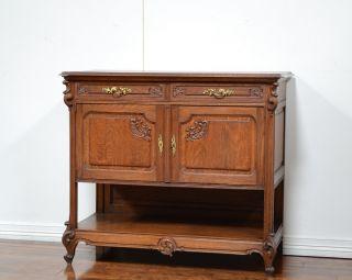55637 - 2 : Antique French Oak Louis Xv Server photo