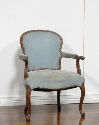 Dk0139 : American Louis Xv Style Arm Chair photo