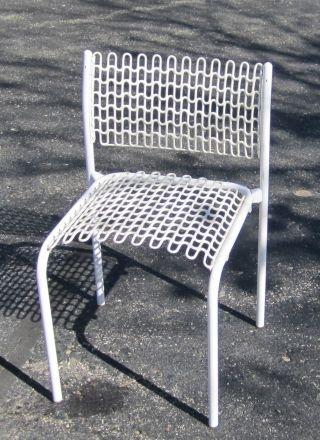 Mid - Century Modern David Rowland Thonet Sof - Tech Side Chair Solid White 6 Avail. photo