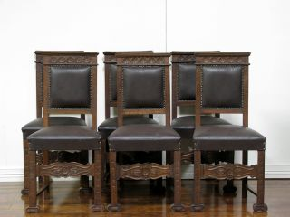 It10 - 4 : Set Of Six Italian Renaissance Side Chairs photo
