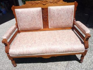 Antique Settee New Orleans Estate Recovered Excellent Local Pick Up Only photo