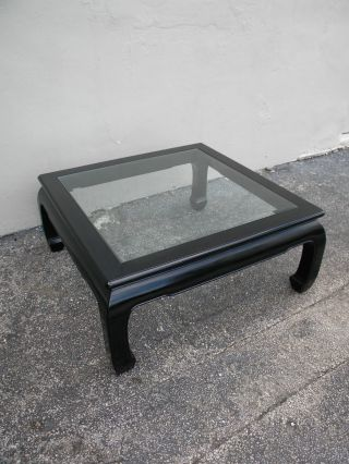 Mid - Century Hollywood Regency Painted Glass - Top Coffee Table 2254 photo