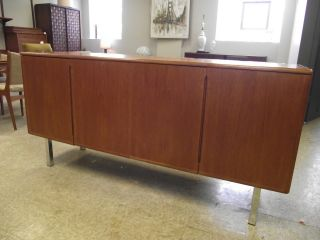 Vintage Danish Modern Teak Credenza photo