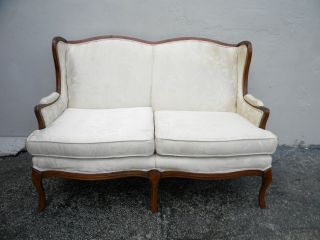 French Carved Love Seat 2668 photo