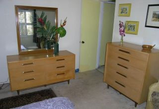 Mid Century Danish Modern Urban Suburban 2 Pc Bedroom Set By Merton Gershun photo