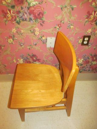 Myrtle Desk Company Eames Era Mid Century Moderne Maple Chair Nebraska College photo
