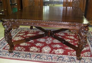 Country French Antique Style Solid Mahogany 66