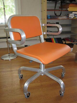 $1145 Emeco Nine - O Swivel Armchair – Mint Condition photo