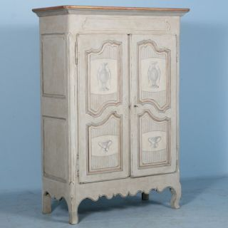 Captivating Antique French Armoire W/gold/white C1920 ' S Capital Legs photo