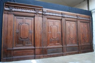 French Paneling 19th Century Solid Oak 13 Lineal Feet photo