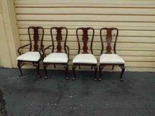 50933 Set 4 Cherry Dining Room Chairs Cranston ?? photo