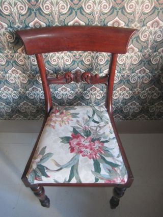 Antique Vintage African Mahogany ? Victorian Charming Accent Chair photo