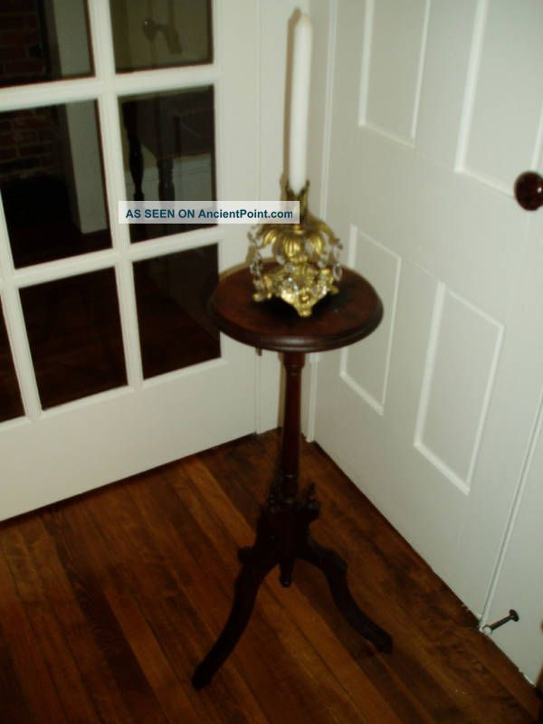 Sweet Antique Victorian Candle Stand W/embelishments 1800-1899 photo