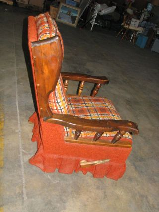 Vintage Lazyboy Wooden Rocker Recliner ( (unique Piece)) )) photo