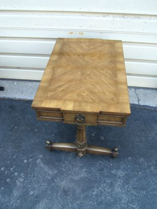50730 Weiman Mid Century Modern Banded Kameo Lamp End Table photo