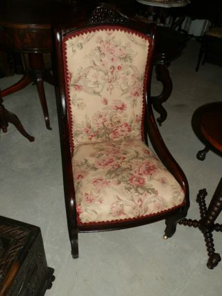 Sweet Little Grape Carved Ladies Parlour Chair Great Lines photo
