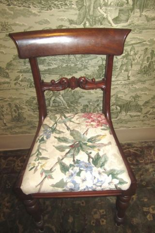 Antique Duncan Phyfe Mahogany? Ladies Upholstered Accent Chair Must Seeeee photo