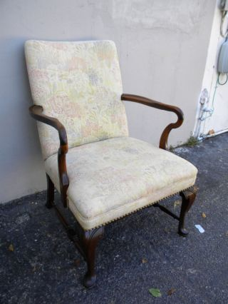 Solid Mahogany Queen Anne Legs Side Chair photo