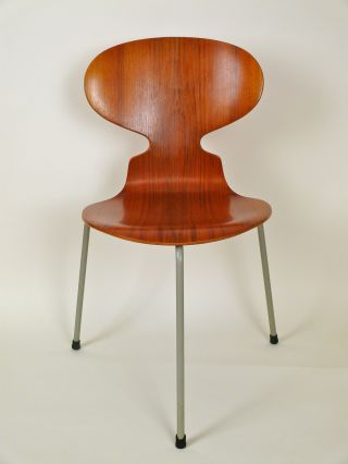 Arne Jacobsen By Fritz Hansen Model 3100 Ant Chair In Teak.  Early And. photo