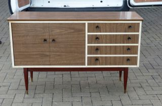 Laminated Vintage Retro Sideboard With Concertina Door photo