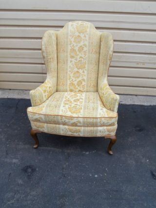 49880 Drexel Queen Anne Upholstered Wing Chair photo