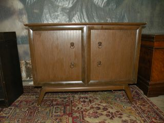 1955 Lane Mid Century Modern Bedroom Blanket Cedar Chest Cabinet photo