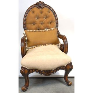 Antique French Style Gorgeous Velvet Tan/beige Arm Chair,  49  Tall. photo