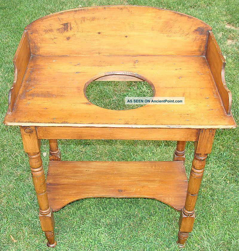 Incredible Antique American Queen Anne Pine Washstand Circa 1820 Awesome 1800-1899 photo