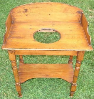 Incredible Antique American Queen Anne Pine Washstand Circa 1820 Awesome photo