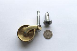 Brass Castors Peg Type Fitting 32mm Diametronow Cheaper photo