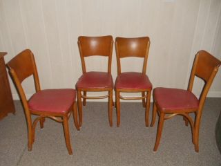 4 Kohn & Mundus Bentwood Thonet Chairs Poland photo