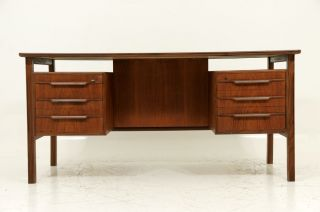 Danish Modern Teak Writing Desk photo