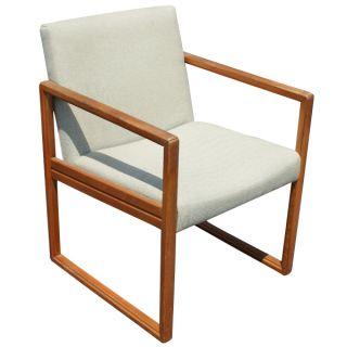 Vintage Mid Century Stow Davis Wood Arm Side Chairs photo