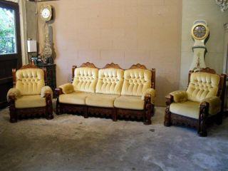 Gothic Salon Set Sofa 2 Arm Chairs photo